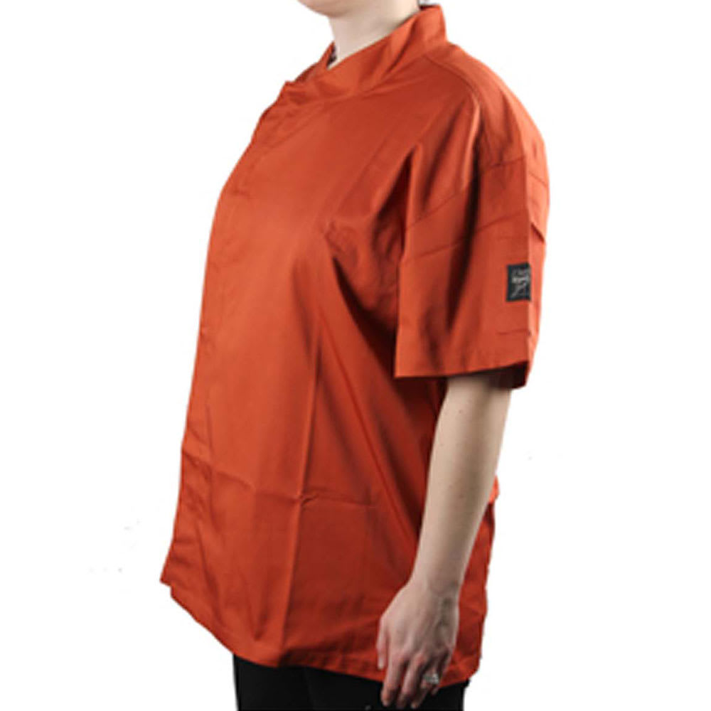 Chef Revival J020SP-XL Chef's Jacket w/ Short Sleeves - Poly/Cotton, Spice, X-Large