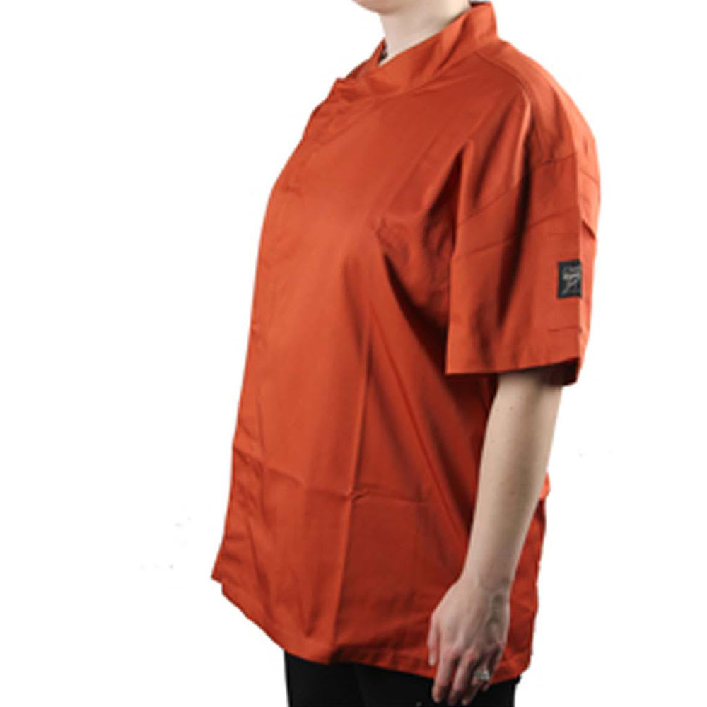 Chef Revival J020SP-XS Chef's Jacket w/ Short Sleeves - Poly/Cotton, Spice, X-Small