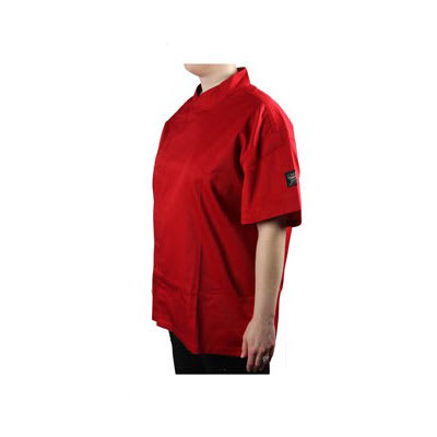 Chef Revival J020TM-XS Chef's Jacket w/ Short Sleeves - Poly/Cotton, Tomato Red, X-Small
