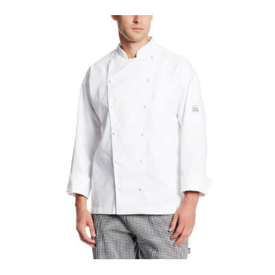 Chef Revival J023-M Chef's Jacket w/ Long Sleeves - Poly/Cotton, White, Medium