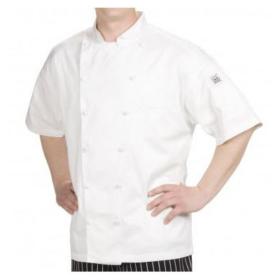 Chef Revival J057-L Chef's Jacket w/ Short Sleeves - Cotton, White, Large
