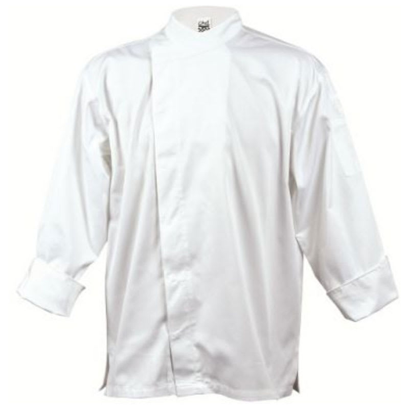 Chef Revival J070-L Chef's Jacket w/ 3/4 Sleeves - Poly/Cotton, White, Large