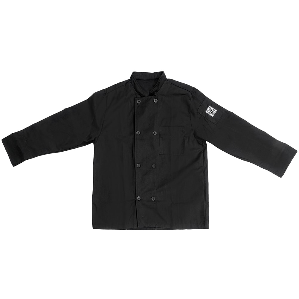 Chef Revival J071BK-L Chef's Jacket w/ Long Sleeves - Poly/Cotton, Black, Large