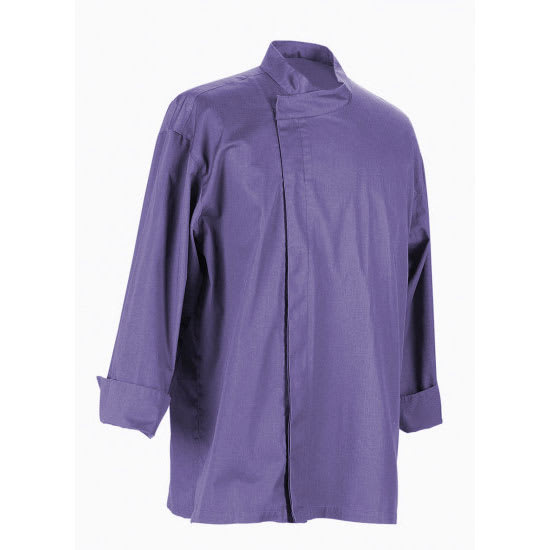 Chef Revival J113EPT-S Chef's Jacket w/ 3/4 Sleeves - Poly/Cotton, Eggplant, Small