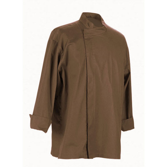 Chef Revival J113EXP-3X Chef's Jacket w/ 3/4 Sleeves - Poly/Cotton, Espresso, 3X