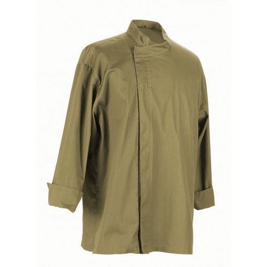 Chef Revival J113OG-S Chef's Jacket w/ 3/4 Sleeves - Poly/Cotton, Olive, Small