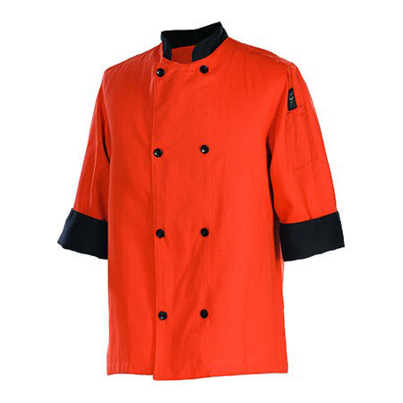 Chef Revival J134SP-XS Chef's Jacket w/ 3/4 Sleeves - Poly/Cotton, Spice, X-Small