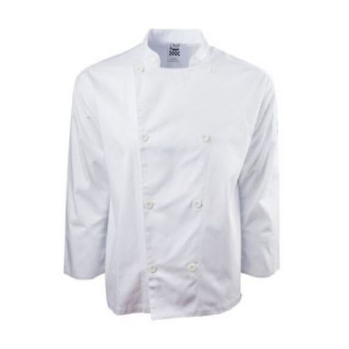 Chef Revival J200-L Chef's Jacket w/ Long Sleeves - Poly/Cotton, White, Large