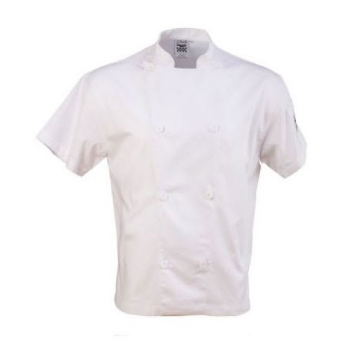 Chef Revival J205-M Chef's Jacket w/ Short Sleeves - Poly/Cotton, White, Medium