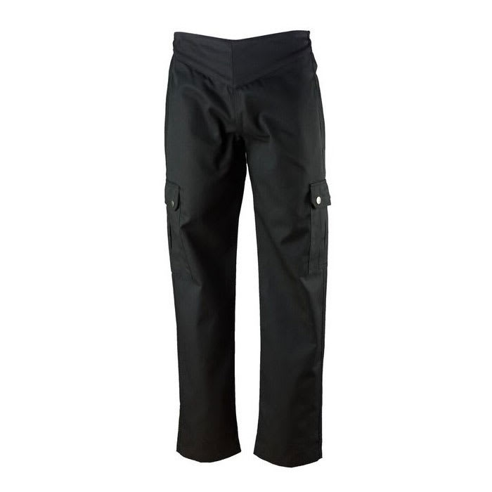 Chef Revival LP002BK-XXS Ladies Cargo Chef's Pants w/ Elastic Waist - Poly/Cotton, Black, XX-Small