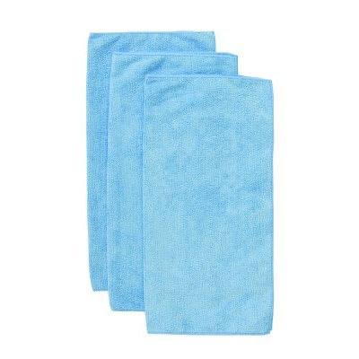 "Chef Revival MF100BL 16"" Square Multi-Purpose Towel - Microfiber, Blue"