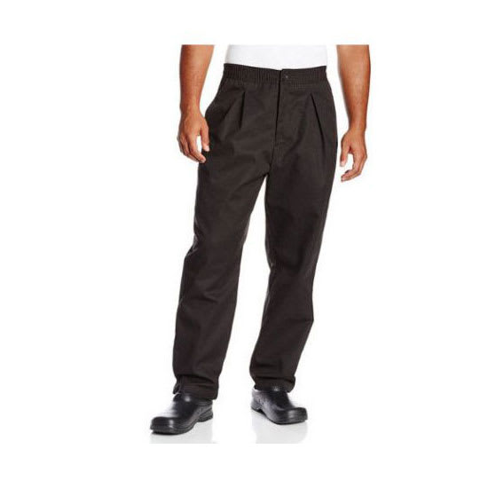 Chef Revival P017BK-5X Chef's Pants w/ Drawstring Waist - Poly/Cotton, Black, 5X