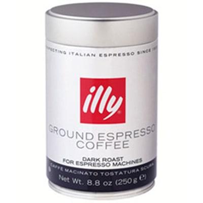 Illy 00490 8.8-oz Fine Grind Dark Roast Espresso Coffee
