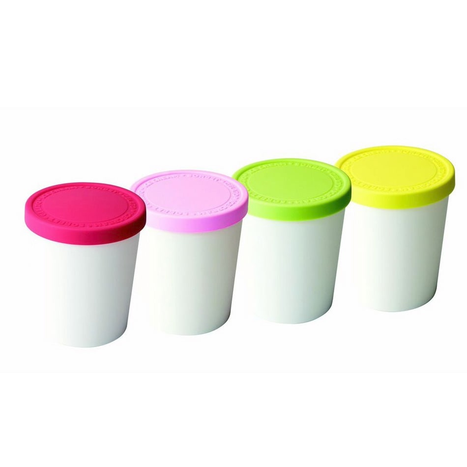 Tovolo 61-3545 Mini Ice Cream Tubs with Lids - Set of 4