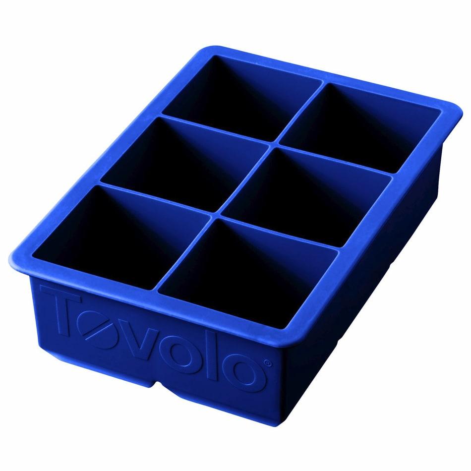 Tovolo 80-5521 King Cube Ice Tray - Stratus Blue