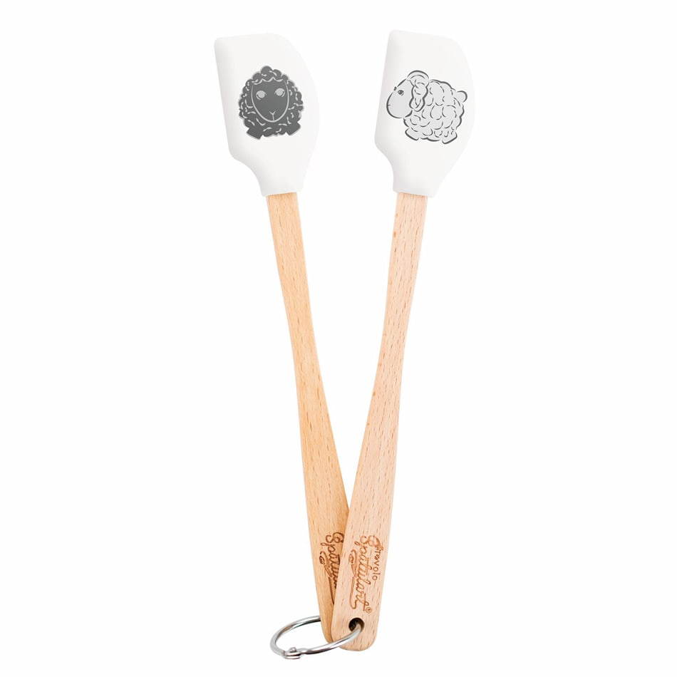 Tovolo 81-11595 Set of 2 Mini Sheep Spatulas - BPA Free