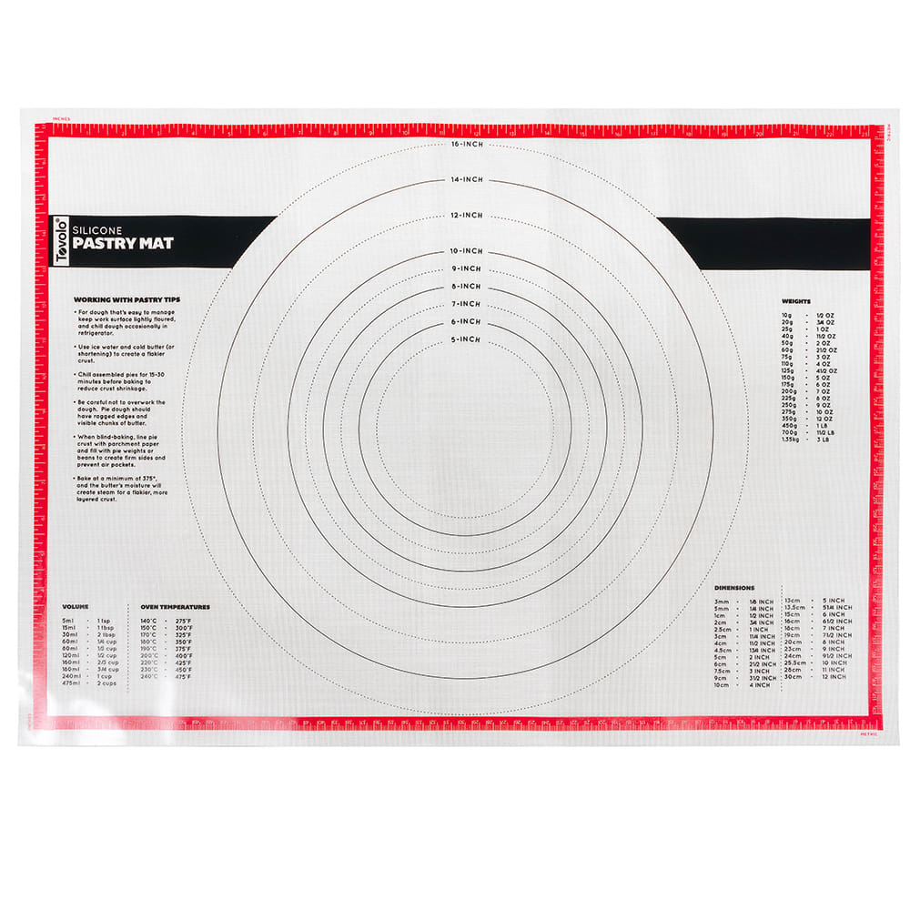 Tovolo 81-1930 Pastry Prep Mat - Silicone