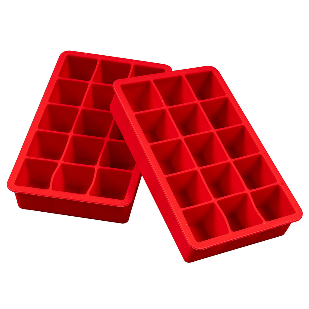 Tovolo 81-9516 Perfect Cube Ice Trays - Candy Apple