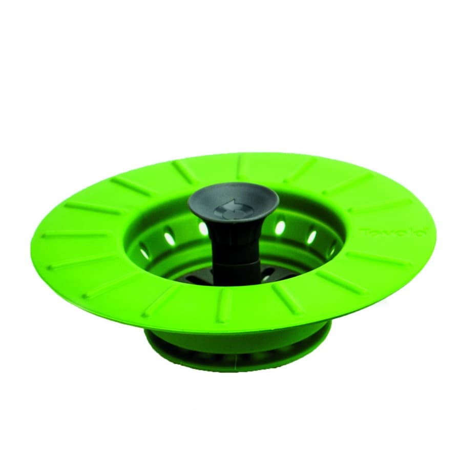 Tovolo 81-9783 Collapsible Stopper Strainer - BPA Free, Spring Green