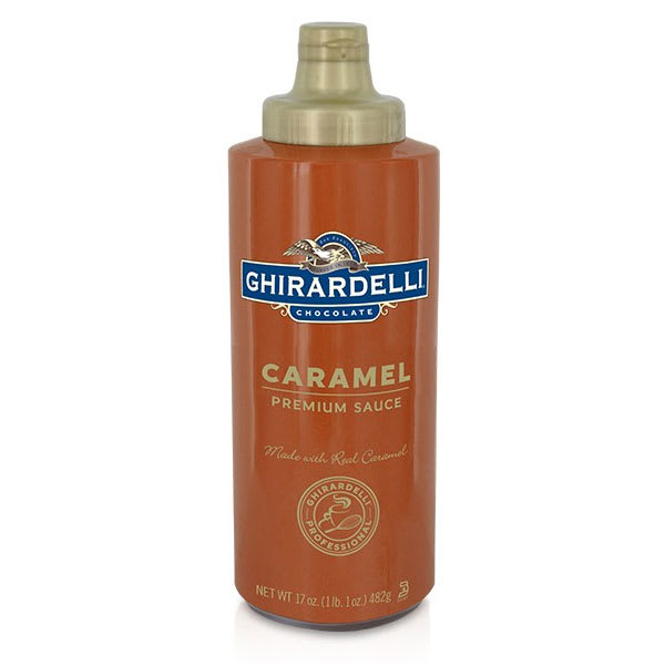 Ghirardelli 61283 17-oz Caramel Flavored Sauce, Squeeze Bottle
