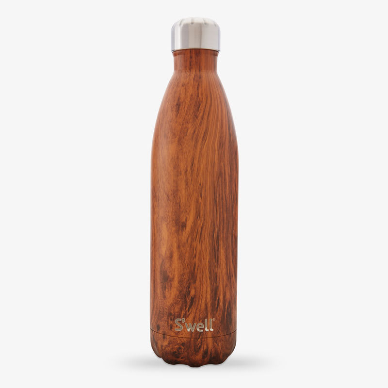 S'well LWB-TEAK01 25-oz Insulated Water Bottle - BPA Free, 18/8 Stainless, Teakwood