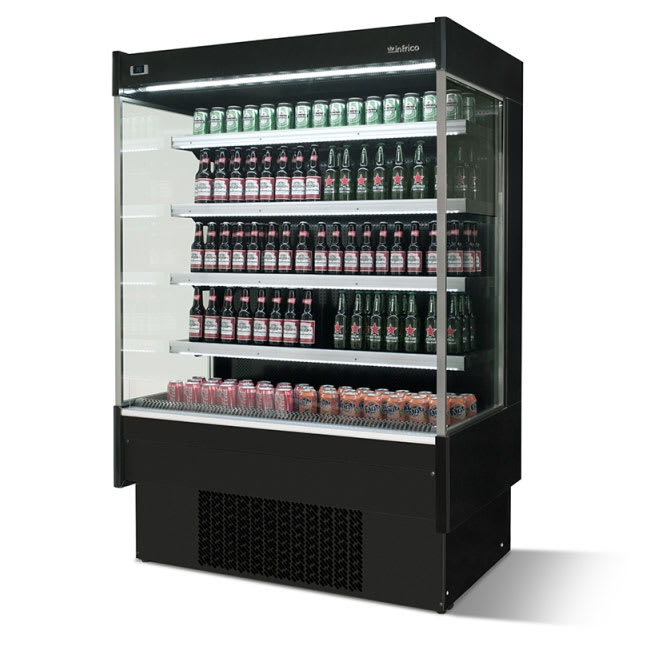 "Infrico IAG-EML12CM1 52.25"" Vertical Open Air Cooler w/ (5) Levels, 220v/1ph"
