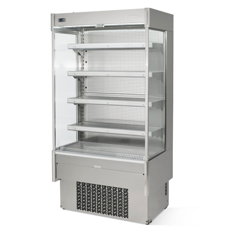 "Infrico IAG-EML9INOXM1 40"" Vertical Open Air Cooler w/ (5) Levels, 115v"