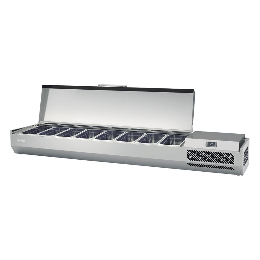 "Infrico ICT-VIP1980SOLID 77.87"" Refrigerated Countertop Dispenser Station w/ (8) Third-Size Pans, 115v"