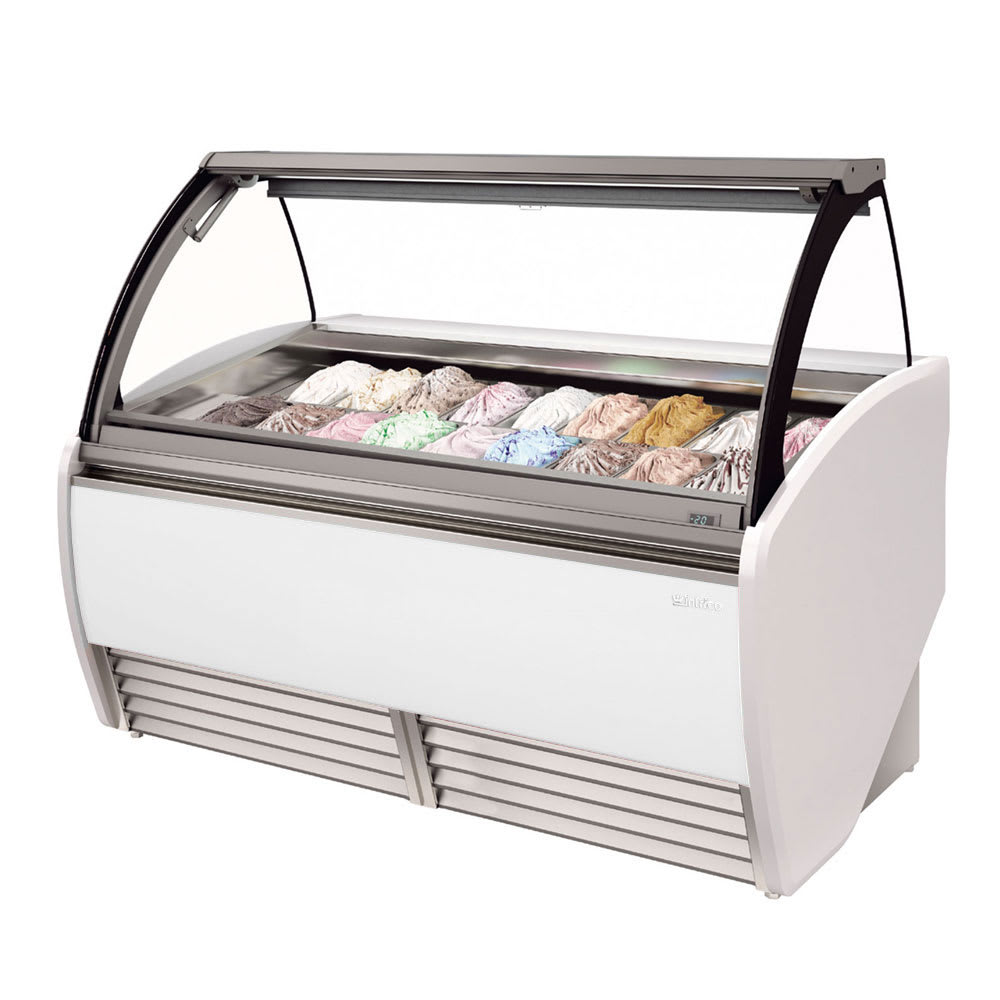 "Infrico IDC-VAR15H 64.75"" Stand Alone Ice Cream Freezer w/ 16-Pan Capacity, 230v/1ph"