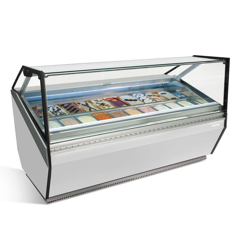 "Infrico IDC-VAR15HFG 61.5"" Stand Alone Ice Cream Freezer w/ 16-Pan Capacity, 230v/1ph"