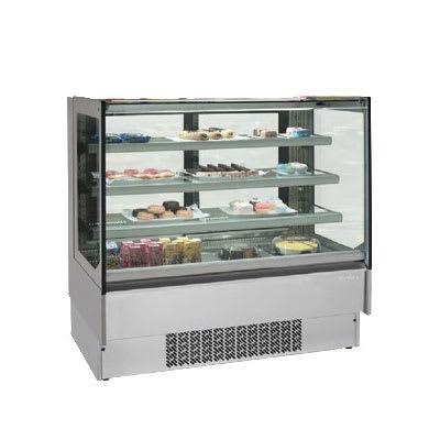 "Infrico IDC-VBR12FG 50.75"" Full-Service Bakery Case w/ Straight Glass - (4) Levels, 115v"