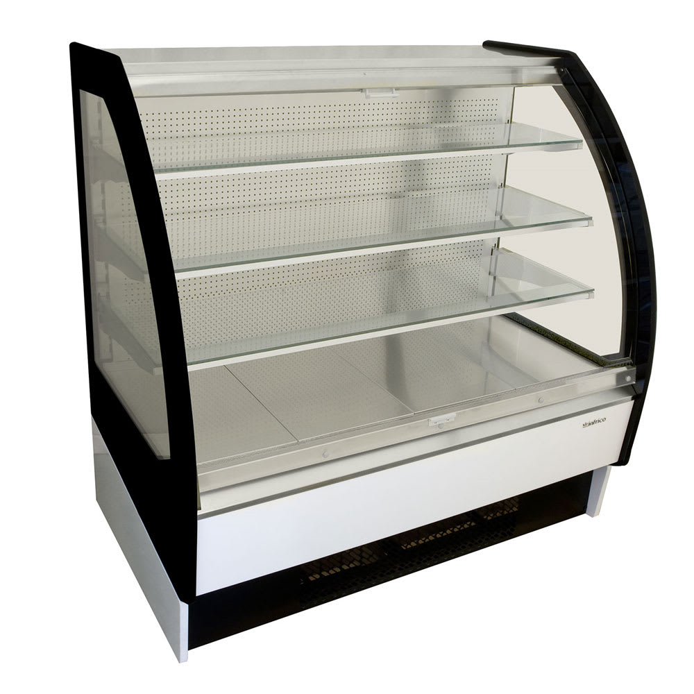 "Infrico IDC-VBR12SS 50.75"" Self-Service Bakery Case w/ Curved Glass - (4) Levels, 115v"