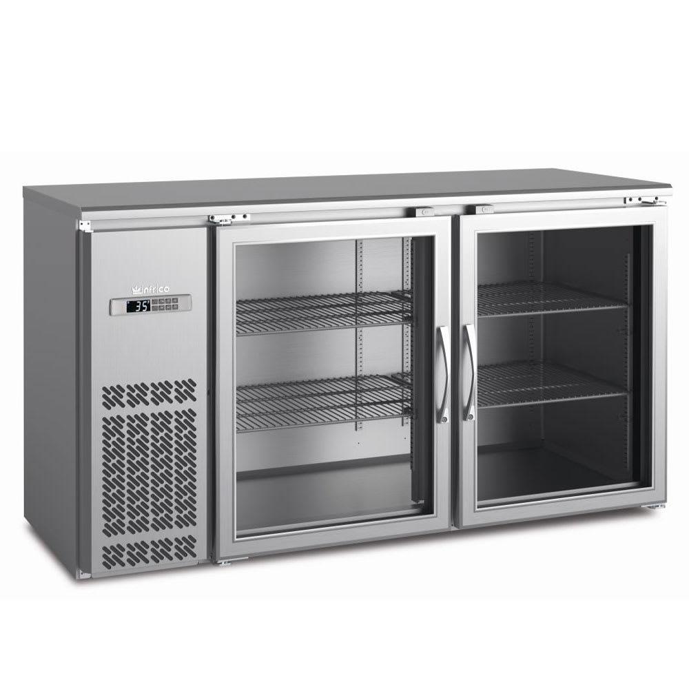 "Infrico IMD-ERV60IIGD 60.75"" (2) Section Bar Refrigerator - Swinging Glass Doors, 115v"