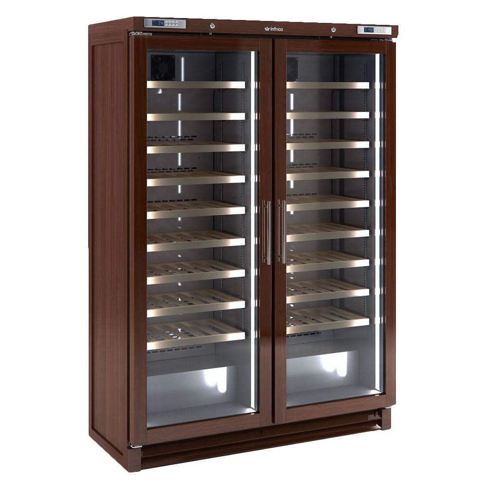 """Infrico IMD-EVV200MX 53.75"""" Two Section Wine Cooler w/ (2) Zone, 200 Bottle Capacity, 115v"""