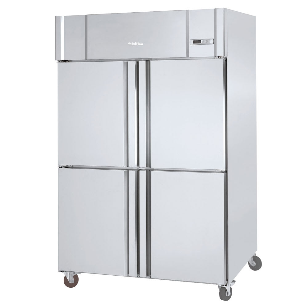 "Infrico IRR-AGB49-4 54.5"" Two-Section Reach-In Refrigerator, (4) Solid Doors, 115v"