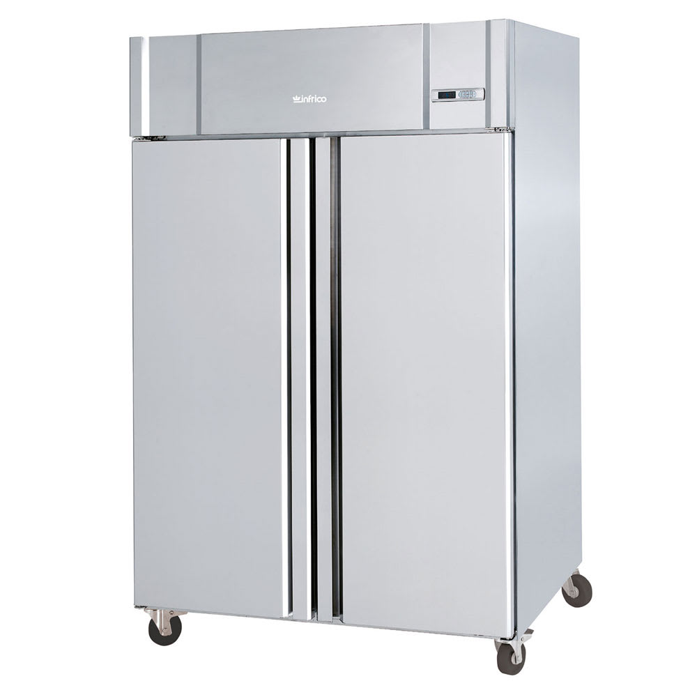 "Infrico IRR-AGB49BT 54.5"" Two-Section Reach-In Freezer, (2) Solid Door, 115v"