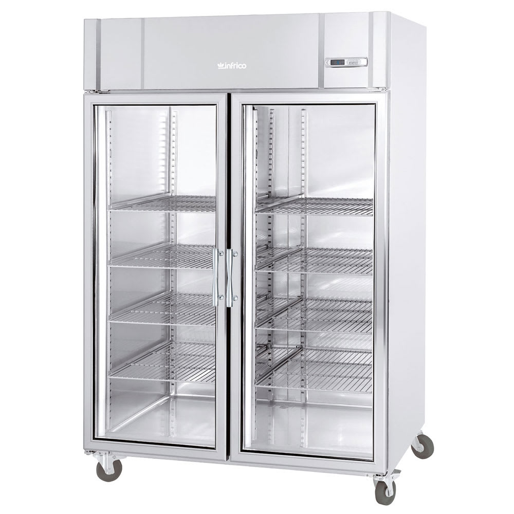 "Infrico IRR-AGB49BTCR 54.5"" Two-Section Reach-In Freezer, (2) Glass Door, 115v"
