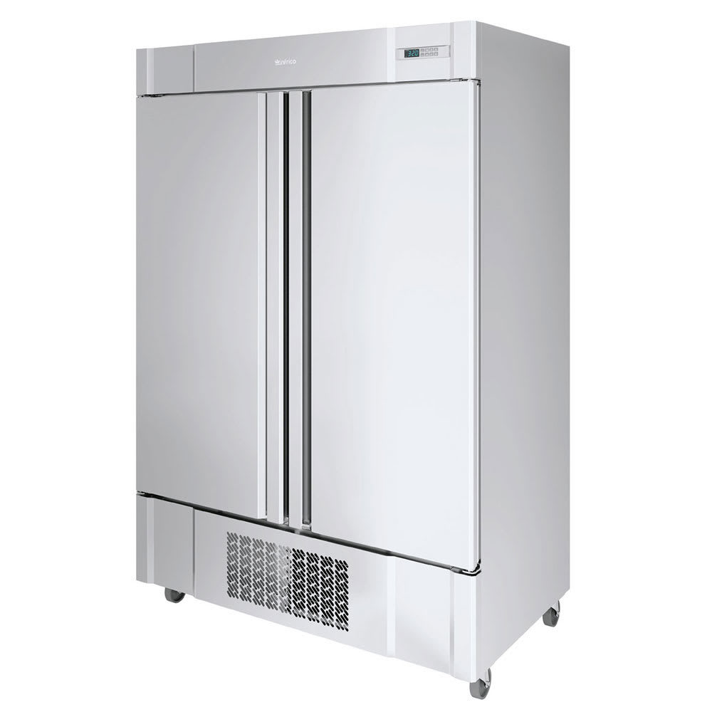 "Infrico IRR-AN49BT 54.5"" Two-Section Reach-In Freezer, (2) Solid Doors, 115v"