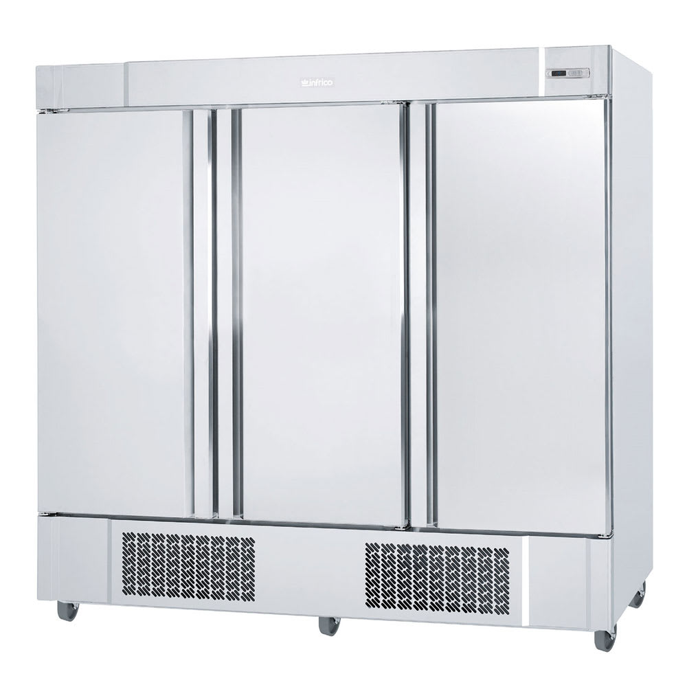 "Infrico IRR-AN67 82"" Three-Section Reach-In Refrigerator, (3) Solid Doors, 115v"