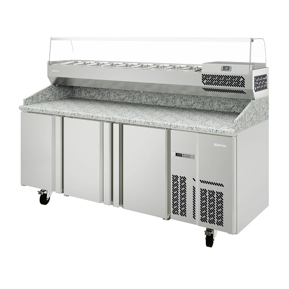 "Infrico IRT-MPG1980-COMBO 78"" Pizza Prep Table w/ Refrigerated Base, 115v"