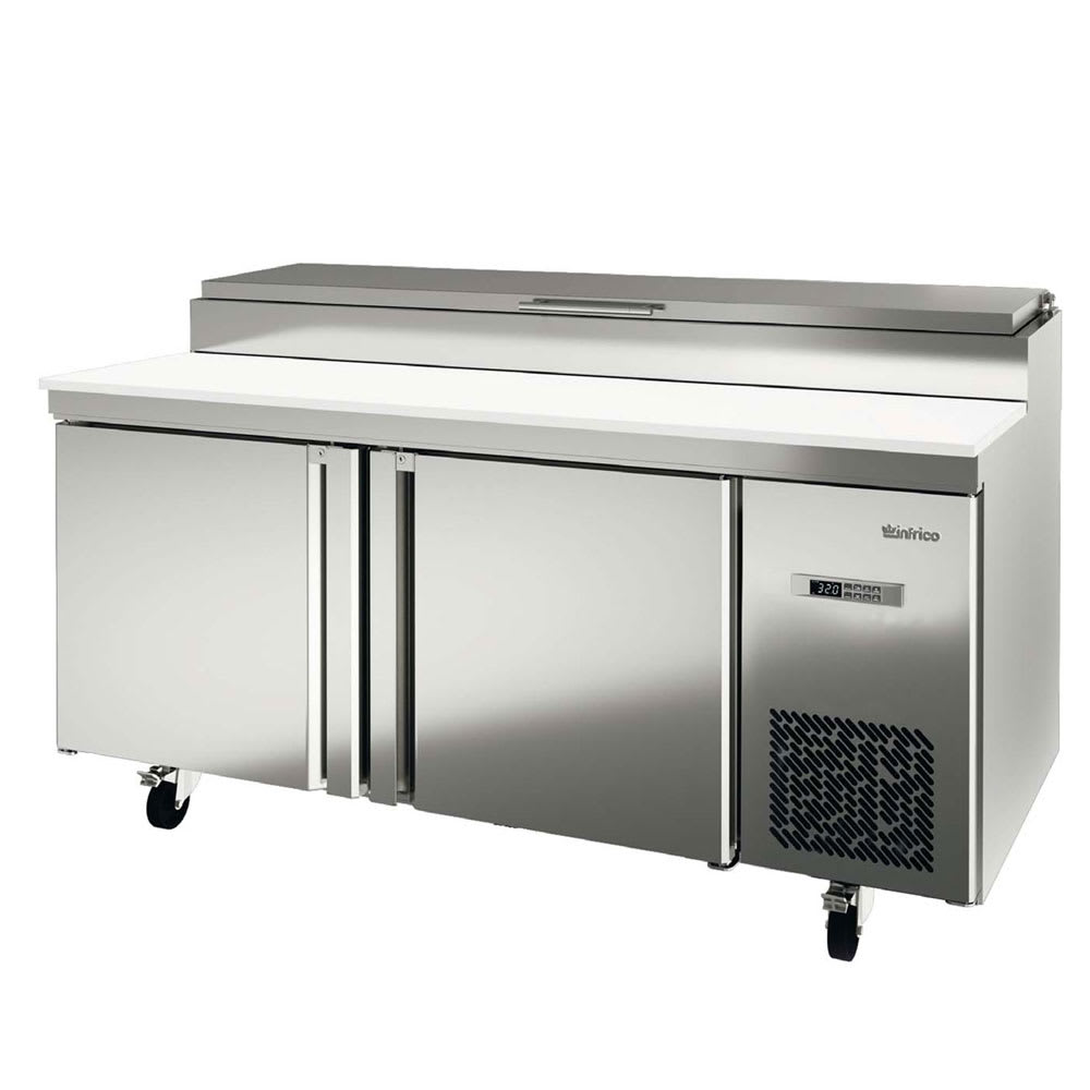 "Infrico IRT-MR67EN 67.38"" Pizza Prep Table w/ Refrigerated Base, 115v"