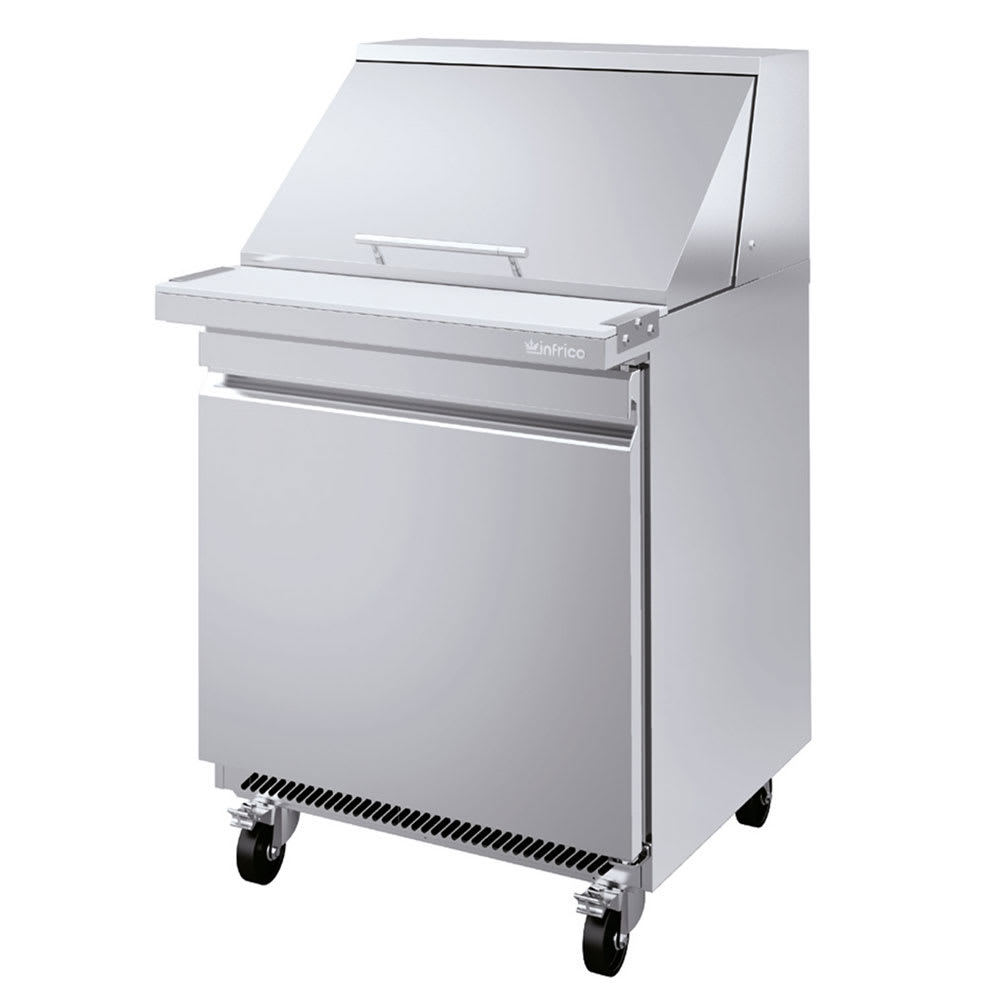 "Infrico IRT-UC27PMT 27.63"" Sandwich/Salad Prep Table w/ Refrigerated Base, 115v"
