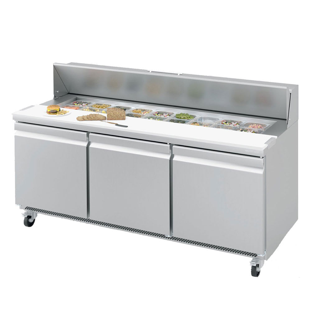 "Infrico IRT-UC72P 72.63"" Sandwich/Salad Prep Table w/ Refrigerated Base, 115v"