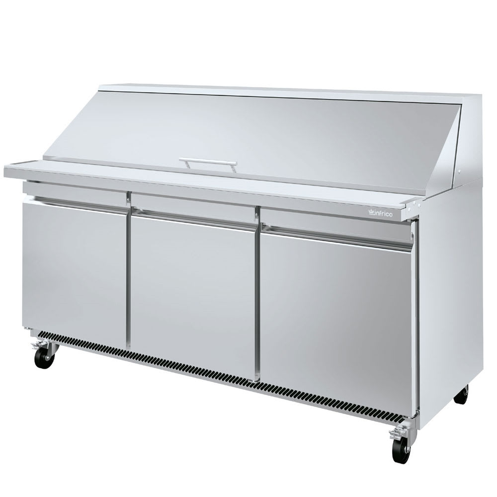 "Infrico IRT-UC72PMT 72.63"" Sandwich/Salad Prep Table w/ Refrigerated Base, 115v"