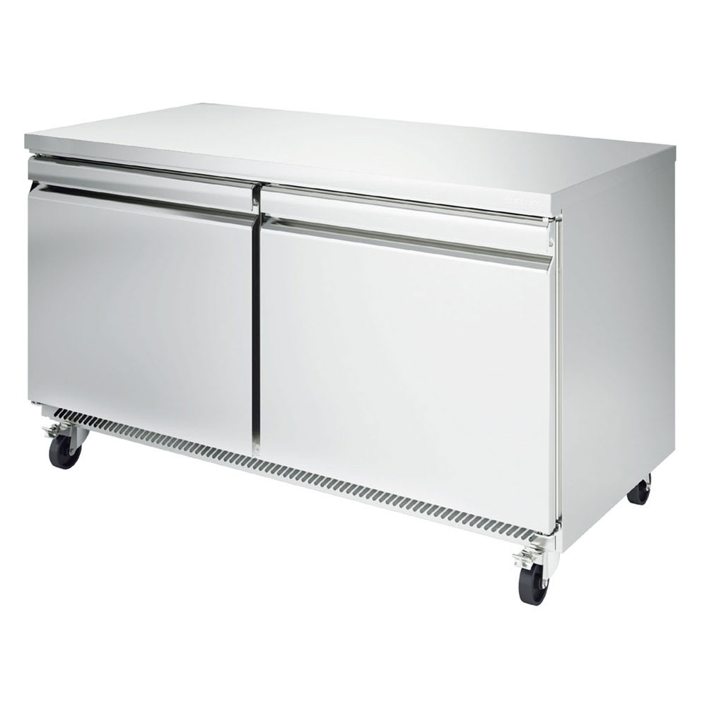 Infrico IUC-UC60F 17 cu ft Undercounter Freezer w/ (2) Sections & (2) Doors, 115v