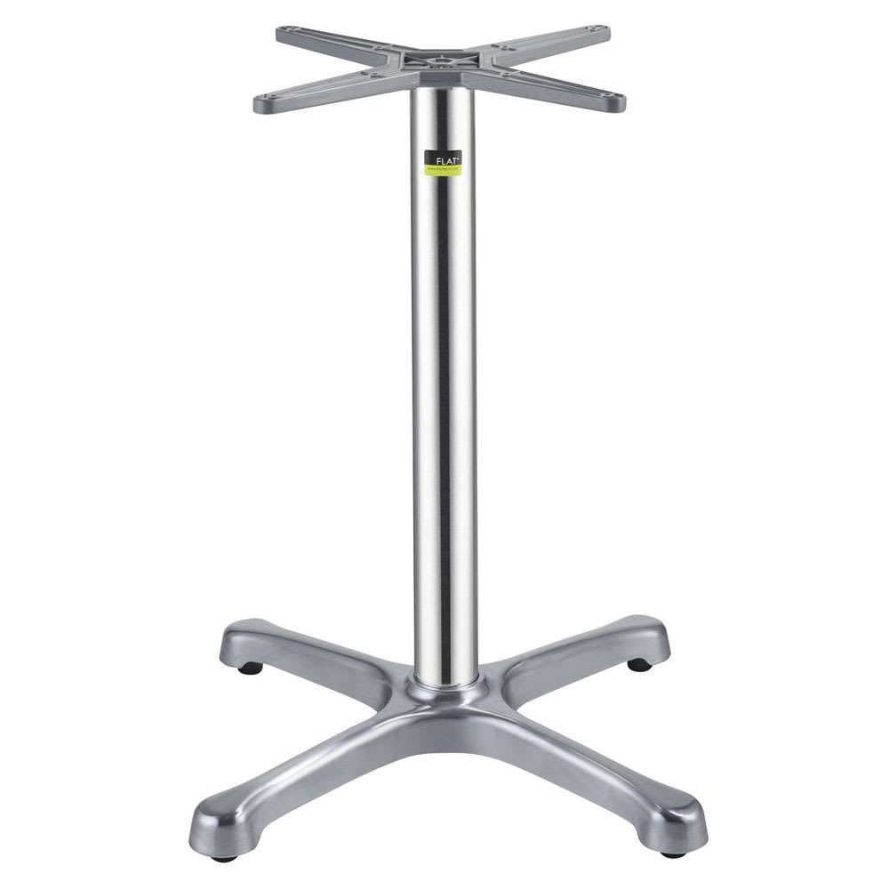 "Flat Tech CT1002 28.35"" Dining Height Table Base for 32"" Table Tops, Aluminum"