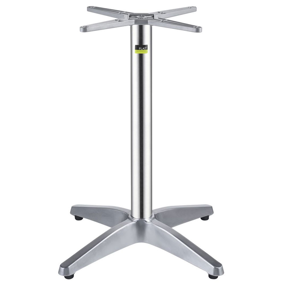 "Flat Tech CT1104 28.35"" Dining Height Table Base for 28"" Table Tops, Aluminum"