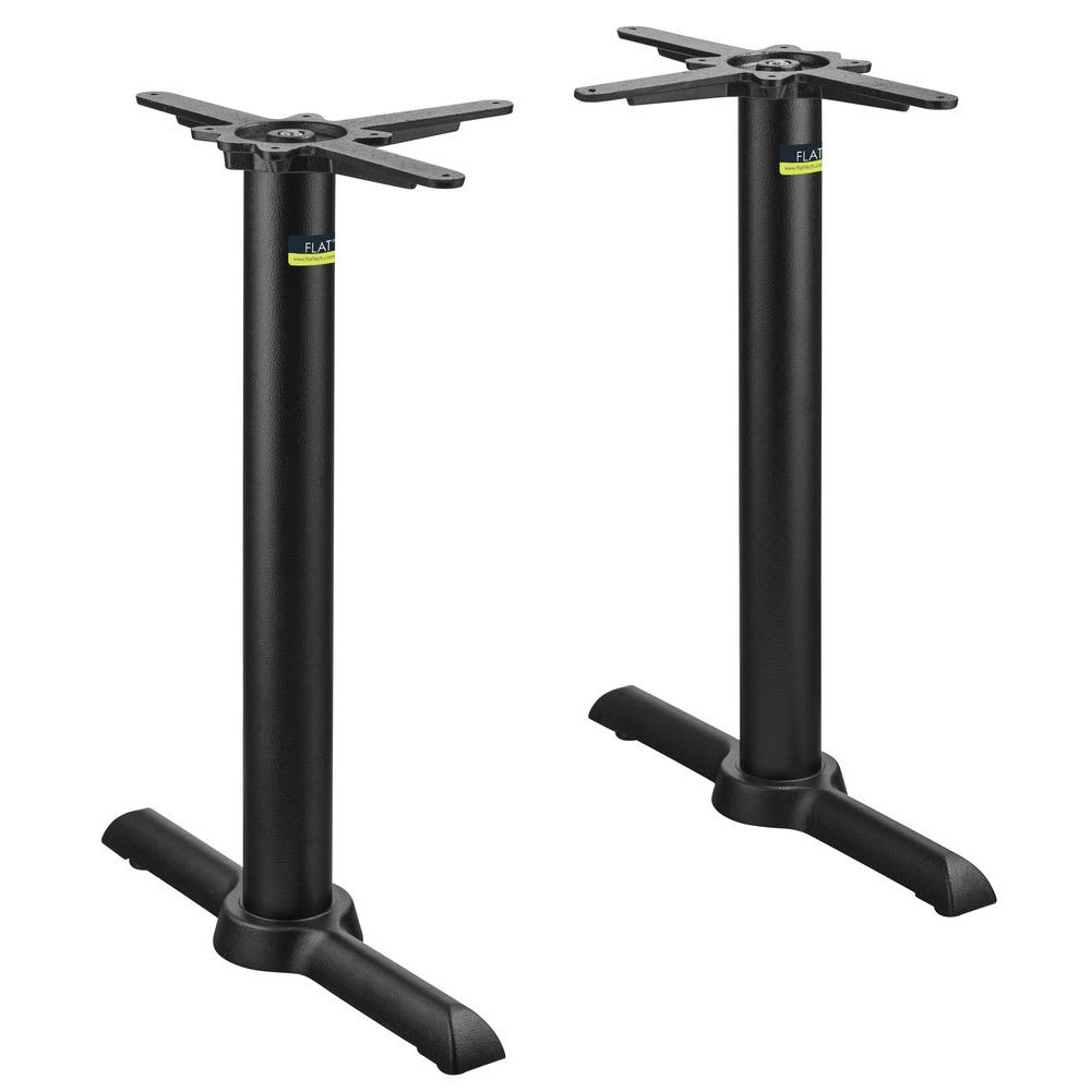 """Flat Tech CT2030 28.35"""" Dining Height Table Base for 36"""" x 48"""" Table Tops, Cast Iron"""