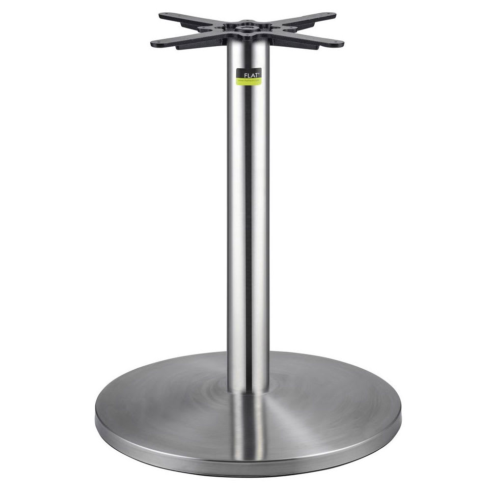 "Flat Tech CT4005 28.35"" Dining Height Table Base for 32"" Square & 37"" Round Table Tops, Stainless"