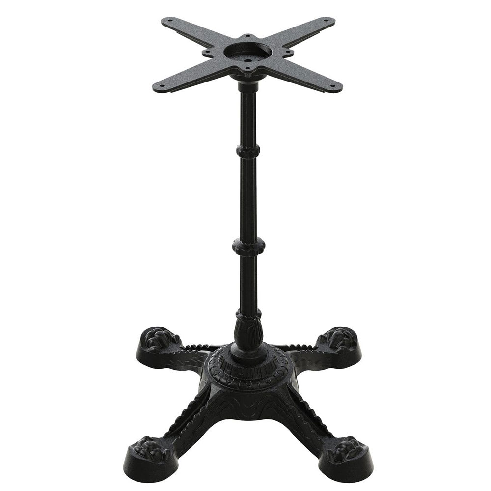 "Flat Tech CT4200 28.35"" Dining Height Table Base for 30"" Table Tops, Cast Iron"